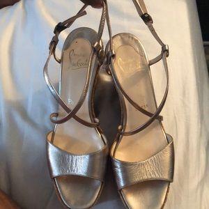 Gold Christian Louboutin Sandals